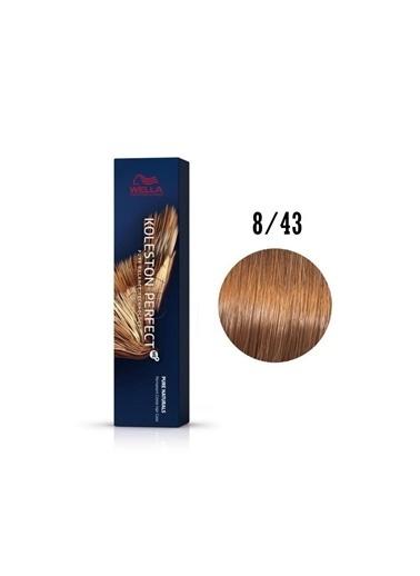Wella Koleston Perfect Tüp Boya 60 Ml 8/43 Açık Kızıl Kumral Renksiz